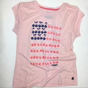 45c479fe8 Tommy Hilfiger Shirts & Tops - Tommy Hilfiger Girls 12 Graphic t shirt flag  pink